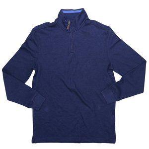 Club Room French Rib 1/4 Zip Lightweight Sweater S